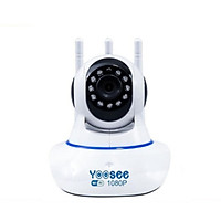 Camera wifi trong nhà Yoosee  Z02S 2.0 Full HD, 3 râu, xoay 360 độ , tương tác 2 chiều, hỗ trợ thẻ nhớ lên đến 128G, cảnh báo chuyển động – Hàng nhập khẩu