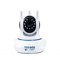 Camera wifi trong nhà Yoosee 2.0 Full HD, 3 râu, xoay 360 độ , tương tác 2 chiều, hỗ trợ thẻ nhớ lên đến 128G, cảnh báo chuyển động – Hàng nhập khẩu