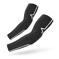 A Pair of Compression Elbow Sleeves Women Men Anti Slip Elbow Support Elbow Pads Guards for Basketball Volleyball