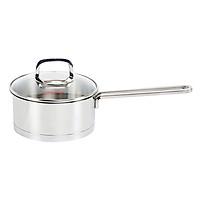 Quánh Inox Cao Cấp 3 Đáy Nắp Kiếng Happy Cook Novelty Q16-NV (16cm)