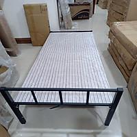 Giường đơn gấp gọn khung thép cao cấp - Giường xếp có bánh xe  - Giao màu ngẫu nhiên