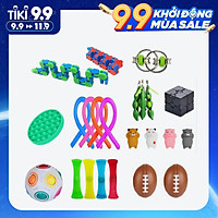 27Pcs Round Pop Bubble Sensory Toys Set Stress Anxiety Relief Hand Toys for Children Adults