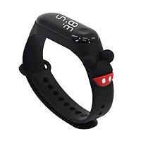 Đồng hồ trẻ em Dohora VN 135 máy led gắn icon siêu dễ thương dây cao su cực bền