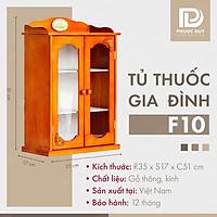 Tủ thuốc - Tủ y tế gia đình gỗ tự nhiên F10