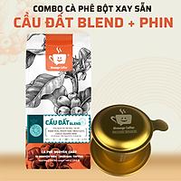 Combo Cà Phê Cầu Đất Blend Nguyên Chất Rang Mộc Hảo Hạng Từ Lâm Đồng Và Phim Nhôm Màu Cao Cấp Đẹp Sang - Message Coffee