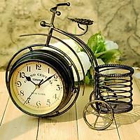 Đồng hồ để bàn 2 mặt xe đạp bánh cao cổ điển 0907