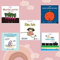 Combo 5 cuốn Ehon với chủ đề: Bé làm quen với Ehon Nhật Bản – Mọt sách Mogu. Bao gồm: Kéo, kéo, Vươn lên vươn lên, Bí ngô không ngủ được, Tu tu xình xịch rì rào rì rào, Che ô cho bạn nhé.