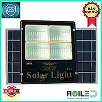 Đèn pha năng lượng mặt trời 60W giá rẻ chính hãng Roiled 4 ô led sáng trên 12h RP4-200W