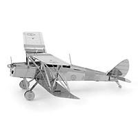 Mô hình tự lắp ráp 3D bằng kim loại không gỉ cao cấp - Máy bay Tiger Moth