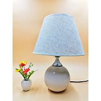 Đèn ngủ để bàn chân sứ tròn VKT T671 - 22x35(cm) (tặng kèm bóng)
