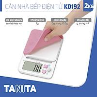Cân điện tử nhà bếp TANITA KD192 (Chính hãng Nhật Bản), Cân nhà bếp 2kg, Cân thức ăn 2kg, Cân thực phẩm 2kg, Cân Nhật, Cân trọng lượng, Cân chính hãng, Cân thực phẩm, Cân thức ăn, Cân tiểu ly điện tử, Cân chính xác, Cân làm bánh
