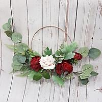 Vòng hoa lụa trang trí cao cấp - Giao màu ngẫu nhiên