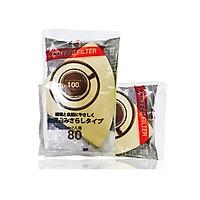Giấy thấm lọc Coffee Filter 185mmx114mm (80 tờ/Túi)-màu cà phê