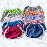 Set 10 quần chục đùi, quần mặc bìm cho bé chạy viền thể thao siêu cưng
