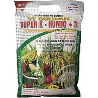 Phân bón lá  SUPER K- HUMIC + TE hỗ trợ cải tạo đất cung cấp dưỡng chất (Gói tiết kiệm 1kg)