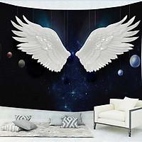 Tranh dán tường 3d đôi cánh thiên thần - ép  kim sa - có sẵn keo TB21