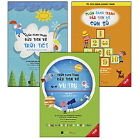 Combo 3 Cuốn Ehon - Cuốn Sách Tranh Đầu Tiên Về : Vũ Trụ + Thời Tiết + Con Số