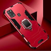 Ốp lưng Samsung Galaxy A21s iron man chống sốc kèm iring
