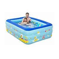 Hồ bơi phao cho bé chữ nhật 1m80 x 1m40 x 60cm