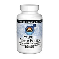 Source Naturals Swedish Flower Pollen Extract Supplement, Supports Prostate Function and Healthy Urine Flow - 90 Tablets