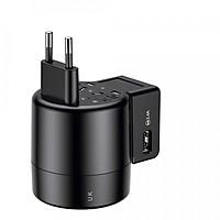 Cốc sạc chân cắm xoay đa năng Baseus Rotation Type Universal 2 Port USB 2.4A (US/ UK/ EU/ AU) - Hàng chính hãng