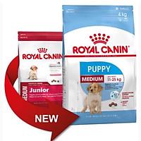 Thức ăn cho chó Royal Canin MEDIUM PUPPY 4kg, Thức ăn cho chó con dưới 1 năm tuổi giống cỡ vừa