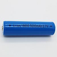 Pin sạc 18650 cao cấp 3.7v - 5000mAh cho sạc dự phòng, đèn pin, đồ chơi - Hàng nhập khẩu