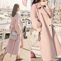 Áo khoác dạ dáng dài 3 màu lên dáng cực xinh