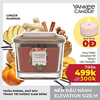 Nến ly vuông Elevation Yankee Candle size M - Ginger Pumpkin (347g)