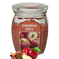 Hũ Nến Thơm Tinh Dầu Bolsius Cinnamon Apple 305g QT024374 - Hương Táo, Quế