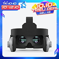 SHINECON G07E VR Headset 110°FOV Eye Protected Virtual Reality Headset for Adults 3D Stereo Sound Compatible with iOS &