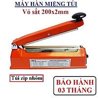 Máy hàn túi nilon pfs200 - Máy ép miệng túi size 200x2mm - Máy hàn mép túi nilon đa năng