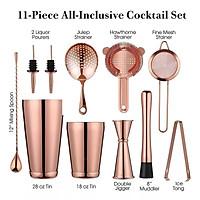 Sét 11Dụng Cụ Pha Chế Cao Cấp Inox #304 - Màu Copper - Thép Không Gỉ