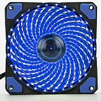Fan Case 12cm LED 33 Bóng xanh