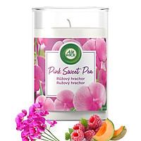 Ly nến thơm tinh dầu Air Wick Pink Sweet Pea 310g XXL QT06524 - hoa đậu Hà Lan