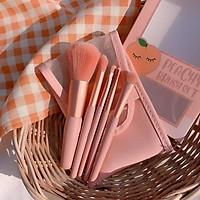 Set 5 Cọ Trang Điểm Lông Mịn Peach Brush Kèm Túi Đựng Tiện Dụng
