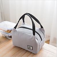 Túi giữ nhiệt hộp cơm văn phòng, du lịch tiện dụng phong cách sang trọng lịch lãm, túi lót bạc cách nhiệt, chống thấm nước tiện dụng, mã TGN02