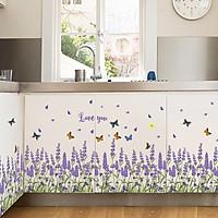 Decal dán chân tường hoa Lavander ZOOYOO SK7038