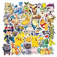 Bộ 50 miếng Sticker hình dán Pokemon