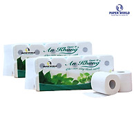 Hai lốc giấy vệ sinh An Khang Classic10 hai lớp - 10 cuộn / lốc