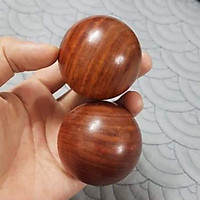 2 Bi lăn tay gỗ hương quả tròn 5 cm