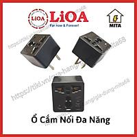 Phích ổ cắm đa năng LiOA chuyển 3 chân thành 2 chân 15A/220V Chân Tròn/Dẹt - Ổ điện chuyển đổi từ 3 chấu sang 2 chấu
