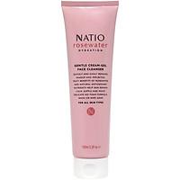 Sữa Rửa Mặt Dịu Nhẹ Dưỡng Ẩm Da Dạng Gel Kem Natio Rosewater Hydration Gentle Cream-Gel Face Cleanser 100ml