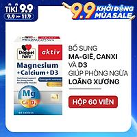 Viên uống bổ sung Canxi phòng ngừa loãng xương Doppelherz Magnesium + Calcium + D3 (Hộp 60 viên)