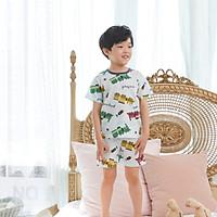 Bộ ngủ cộc tay cho bé Olomimi Hàn Quốc Galaxy Train SS20 - 100% cotton