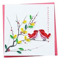 Thiệp Giấy Xoắn Năm Mới Việt Net VN1NY110013E1 (10 x 10 cm)