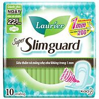 Băng Vệ Sinh Laurier Super SlimGuard Siêu Mỏng Bảo Vệ 22,5cm 10 Miếng