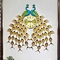 Đồng hồ treo tường GCLOCK loại to KT 95X85 (cm) cao cấp làm từ kim loại sơn tĩnh điện chạy máy kim trôi chuẩn (2012)