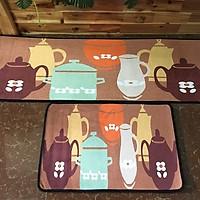 Bộ 2 Thảm nhung nhà bếp bộ bình trà TSN30(40x60cm và 40x120cm)