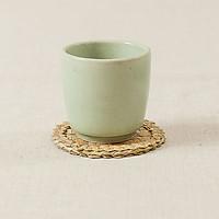 Lót cốc cỏ bàng (10cm) - viền bông mai